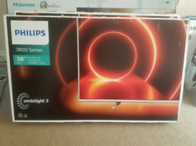 PHILIPSAMBILIGHT 50 INCH HIGH SPEC SMART NEW BOXED TV CALL 07550365232