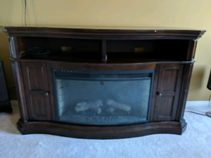 Fireplace and Media Stand