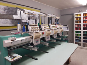 Tajima embroidery machine - 4 heads-9C - Turnkey, hoops-threads