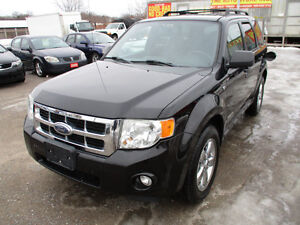2008 FORD ESCAPE 4X4 V6 LEATHER ROOF