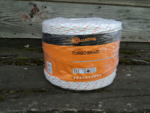 Gallagher turbo braid electric fence cord 400 meter rolls