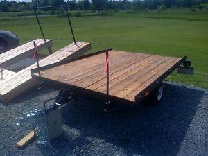 New price double skidoo trailer - rebuilt