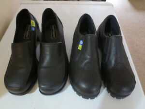 LADIES SAFETY/STEEL TOED SHOES SIZE 7.5-EUC!
