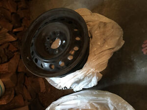 2 Tires, 4 Rims, and 4 Hubcaps Kingston Kingston Area image 3