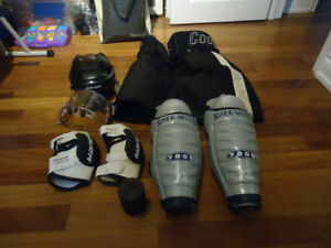 Assorted used men's hockey gear