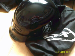 ladies helmet,leather jacket/chaps and mens jackets