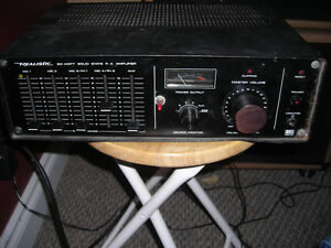 Realistic 4 Channel PA and Samson Mic