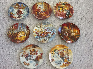 Complete set of 8 collector plates