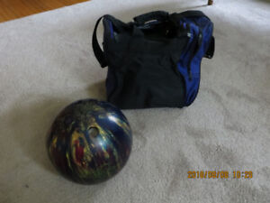 bowling ball and bag