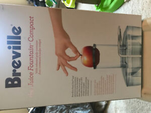 New Breville Juice Fountain Compact with onboard pulp container