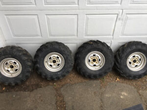 "28"" Dirt Devil Tires, 4x110 Rims"