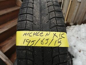 4 WINTER TIRE WITH RIMS OFF VW GOLF 195/65/R15 85%TREAD