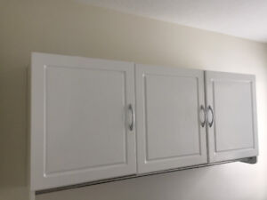 Laundry Room 3 door cabinet with bar.