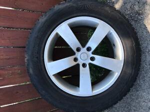 Snow tires FX35 Infiniti 265 P235 65R18  four custom rims