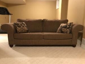 3 Piece Brown Sofa Set