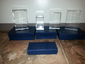 PURE BLANK CRYSTAL CUBES, BLOCKS, KEYCHAIN ALL IN GIFT BOXES