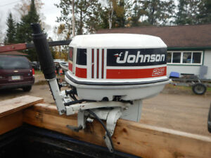 1991-25 HP JOHNSON (L.S.) OUTBOARD TILLER  WITH ELECTRIC START