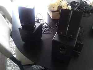 2 speaker sets available- logitech and Insignia