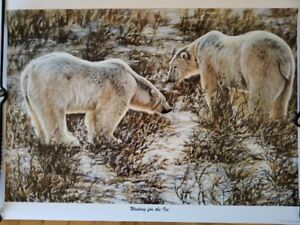 """""""Waiting For The Ice"""" Gail Adams Signed Print"""