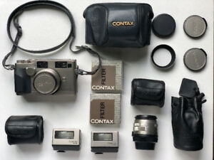 Contax G2 | Biogon28mm/Planar45mm/TLA200/camera case + more