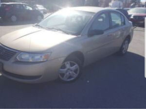 2003 Saturn Ion as is. Trade for motorcycle.
