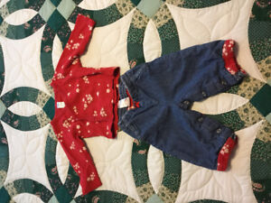 Lined jeans and kimono style top 6-12 month
