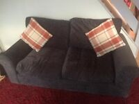 Grey settee and chair