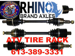 Honda Foreman RHINO AXLES Heavy Duty $259 Canada ATV TIRE RACK