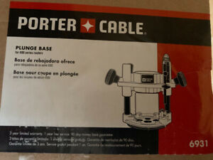 Porter cable plunge router base $75