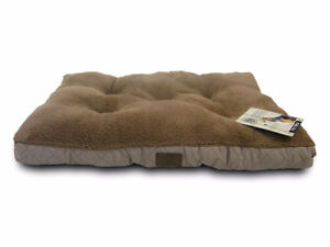 New Deluxe Plush Quilted Dog Bed, 24 by 17-Inch
