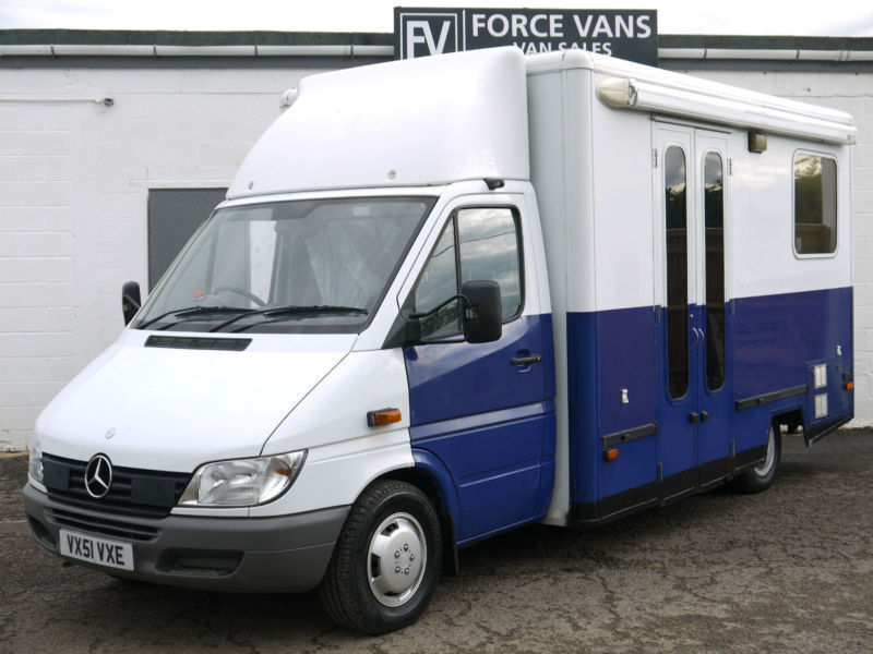 Exhibition Stall Price : Mercedes sprinter camper mobile ex police office