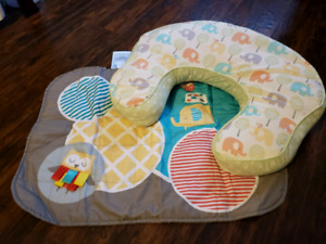 Nursing pillow, extra pillow cover and change pad