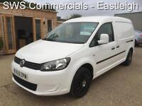2012 (12) VW VOLKSWAGEN CADDY MAXI LWB 1.6 TDI 1 OWNER WHITE DIESEL VAN