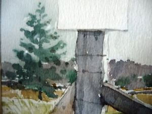"""Early Spring """"Near Eckhardts Corners, Stouffville, Watercolor Stratford Kitchener Area image 7"""