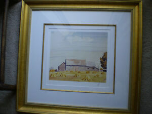 """Initialed A.J. Casson-""""Harvest Time"""" Artists Proof"""