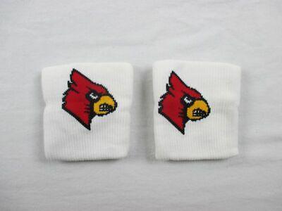 NEW NCAA Louisville Cardinals - Men's White Wristbands -