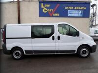 Vauxhall Vivaro 2900 Cdti Double Cab 6 Seat Crew Van