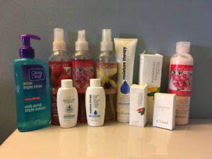Various skin care and fragrances