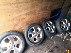 Toyota geniune allows and tyres