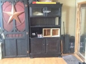 Black handmade hutch
