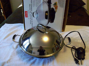 Electric Wok Hardly Used 14 Inch