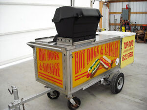 hot dog/sausage cart