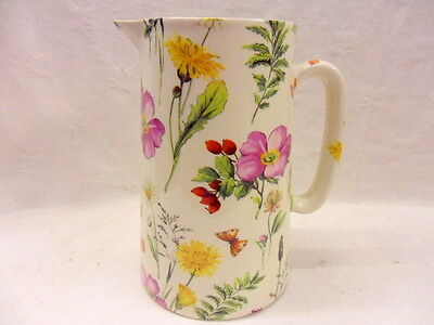Heron Cross Pottery Meadow flowers 2 pint pitcher jug