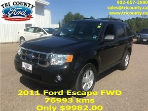 2011 Ford Escape XLT 4Dr FWD 5sp