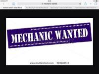 mechanic Wanted for a immediate start