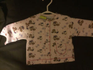 Pink Puppy Patterned Sweater with Snaps. BRAND NEW