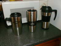 Stainless Steel Travel Mugs - NEW