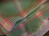 Real Welsh Hand Made Waffle blanket 160x170