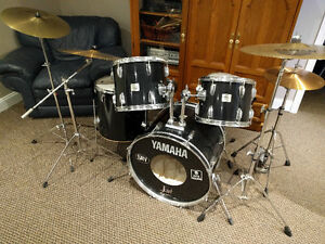 Yamaha Drum Kit, 9 Piece with extra symbols. Reduced to sell