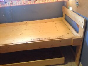 Custom made Twin bed with trundle